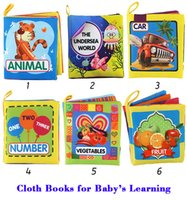 Wholesale Intelligence World - 6PCS Soft Fabric Books for Intelligence Development ,Educational Toy For Baby Infant quick learning the world,wholesale freeshipping