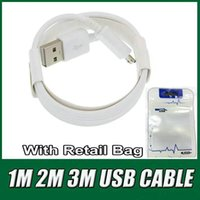 Wholesale Usb Bags - High speed 3ft 6ft 10ft fast charging USB cable data cable High Quality Charger Cord For 5 6 6S 7Plus Samsung Android phone Retail Bag OM-G4