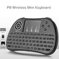 ingrosso illuminate le tastiere senza fili-Mini tastiera retroilluminata Light up Colore bianco Retroilluminazione P9 2017 Mini tastiera wireless Air Mouse per Android TV Box
