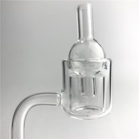 Wholesale Quartz Wall - Quartz Thermal Banger Pillar Nail Carb Cap with XL XXL Walls 10mm 14mm Male Female Glass Ball Carb Caps for Water Pipes