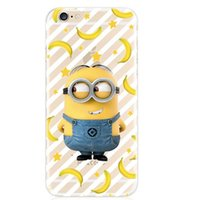 Wholesale Silicon Doll For Mans - For iPhone 7 Case Silicon Cover Despicable Me Yellow Minion Case For iPhone7 5 5s se 6 6s plus 6plus 5.5 Minions Yellow Man Doll Cases