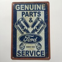 Wholesale ford services - Genuine Parts Ford Service Retro Vintage Metal Tin sign poster for Man Cave Garage shabby chic wall sticker Cafe Bar home decor