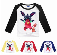 Broadcloth blue bunny costume - 2 Years GB costume bing bunny rabbit t shirt long sleeve boys tees teenage boys clothing girls autumn clothes cotton