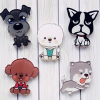 Wholesale Indian Clothing Accessories - MOQ=20pcs Free Shipping Harajuku Cartoon Acrylic Kawaii Q Dog Series Brooch Clothes Backpack Accessories Badges Decoration Brooch Pin Gifts