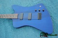 Wholesale Bass Guitar Thunderbird - Wholesale Bass Guitars 5 Strings Thunderbird Electric Bass In Blue High Quality HOT