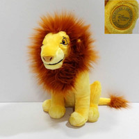 Wholesale Lion King Baby - Wholesale- Sitting height 32cm=12.6inch Original The Lion King Simba Plush soft toys,1pcs Adult Simba Plush toy for baby gift