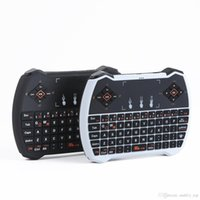 2.4g mini teclado qwerty sem fio venda por atacado-V6A R6 Mini Teclado Sem Fio 2.4G 3D Gaming QWERTY Teclado Touchpad Backlight Retroiluminado Air Mouse Controle Remoto para MXQ Android TV