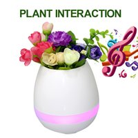 Wholesale Piano Desktop - TOKQ Bluetooth Smart Touch Flowerpot Plant Piano Music Playing Wireless Plantpot Without Plant With Retail Box
