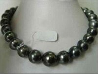 beaded necklaces womenu0027s anniversary rare natural aaa 1213mm south sea black pearl necklace 18