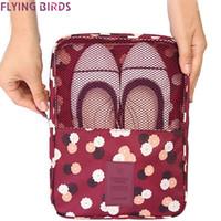 Wholesale Large Shoe Storage Bags - Wholesale- FLYING BIRDS Storage shoe bag Cosmetic Bags Makeup Bag Cosmetic case Dumpling Large Women Packages Waterproof bag LM4094fb