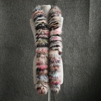 Wholesale Real Fox Fur Wrap - New Arrival Women Winter Scarves Multicolor Real Fox Fur Long Scarf New Style Natural Fox Fur Wraps Winter