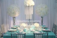 акриловые подставки для центральных частей оптовых-Горячо! акриловый Кристалл щепка высокий свадебный цветок vasestand / элегантный свадебный стол цветок стоит центральные для декоративных Wedding проход