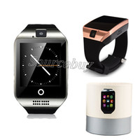 teléfonos reales para niños al por mayor-Bluetooth Smart Watch Q18 wristband inteligente NFC cámara remota SIM TF Card Real Passometer smartwatch para teléfonos Android ios samsung Retail Box