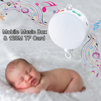 Wholesale Music Box Hanging - Latest Version Baby Crib Mobile Music Box, Battery-Operated and Volume Control With 128M TF Card 12 Tunes Prelaoded,Support Extended to 2GB