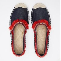 Wholesale National Borders - 2017summer women fashion the new National Cowboy Casual shoes tassel lazy fisherman and flat rope leisure shoes Wholesale at factory price