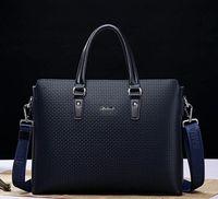 Factory wholesale men bag leather handbag British mens single shoulder bags boutique embossed embosseds leathers briefcase full of fashion handbags