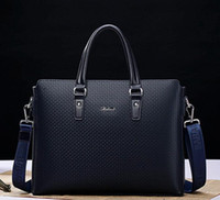 wholesale brand bag leather handbag. British men men single shoulder bag boutique embossed embossed leather briefcase full of fashion busine