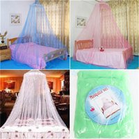 Wholesale Curtain Lace Wholesale - Universal Hanging Mosquito Net Elegant Round Lace Insect Bed Canopy Netting Chinese Classical Nets Curtain Dome Polyester Bedding Home Tool