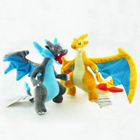 "Wholesale Evolution X - Hot New 2 Styles 9""-10"" 23CM-25CM Mega Evolution X&Y Charizard Poke Doll Anime Pocket Monsters Party Gifts Stuffed Soft Plush Toys"