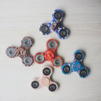 Wholesale Wholesale Toy Seller - Top Seller Camo Fidget Spinner toy Hand triangular spinner Toy For Decompression Anxiety Toys with retailed box S011