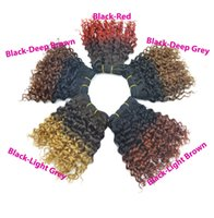 Wholesale Dhgate Ombre Weave - 6pcs Grand Sale Cheap Colorful Extensions Curly Weave Peruvian Dyed Human Hair No Tangle No Shedding 7A DHgate