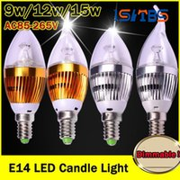High Power CREE Led Lampe Dimmable E14 9W 12W 15W 85-265V Led Bougie Lumière Ampoules Ampoules