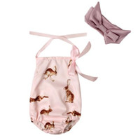 Wholesale Body Sets Brands - 2018 Fashion Baby Clothing Cool Baby Girls Original Bloomer Suit Set Body Bebe jumpsuit Summer Style