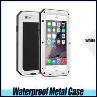Wholesale Iphone4 Waterproof Cases - Waterproof Metal Case Hard Aluminum Dirt Shock Proof Mobile Cell Phone Cases Cover for iphone4 4s 5 5c 5s 6 6s 6s plus