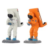 Wholesale Holder Aluminium Ipad - Wholesale- Cute Astronaut Universal Desk Car Dashboard Mount Holder for tablet pc mobile phone iPad Orange Orange White