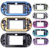 Wholesale Vita Protector - Aluminum Skin Protector Metal Hard Protective Case Cover Console Shell Box For Sony For PlayStation PS Vita 2000 DHL FEDEX FREE SHIPPING