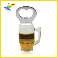 2017 Atacado New Arrivals Plastic Beer Opener Mug com Magnet Factory 40pcs / lot Polybag Packing Drop Shipping