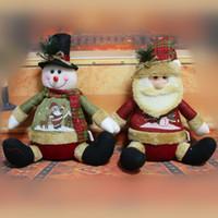 старинные украшения оптовых-28 см Санта-Клаус Снеговик куклы рождественские украшения Xmas дерево гаджеты украшения куклы старинные Рождественский фестиваль декоративный подарок