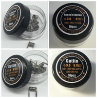 Wholesale building heating - 4 Styles Fused Clapton Tri twisted Clapton Gatlin NI80 Prebuilt Coil Nichrome 80 Wire Pre-built Coils Premade Wrap Wires Heating for Vape
