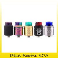 Wholesale Colorful Metal Drip - Authentic Hellvape Dead Rabbit RDA tank 24mm Diameter Single Dual Coil Atomizers For 810 Colorful Resin Drip Tip 100% Original 2273001