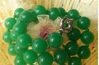 ingrosso pietra di gemma di diaspro-Perle naturali GEMS STONE Natural 10mm Green Jade Jasper Collana fatta a mano corda catena perline gioielli gioielli in pietra naturale