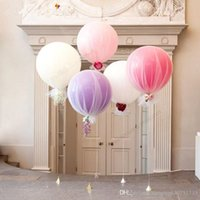 Wholesale wholesale pearl balloons - 36-Inch 10Pcs ThickenLatex Oversized Balloons Helium Pearl Ballons Wedding Decoration Christmas Decorations Birthday Party0