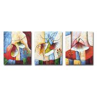 ingrosso dipinti balletto-3 Pannelli Dipinti ad olio Dipinti a mano Balletto Immagini per soggiorno Decorazione della parete in tela Allungato