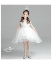 Wholesale Most Beautiful Princess Wedding Dresses - Children 1 to 12 years old the most beautiful flower girl dress princess skirt Tutu piano girls wedding dress summer girl long tail