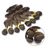 """Wholesale Express Shipping Hair - Malaysian Hair, Body Wave, 100% Human Hair,Double Hair Weft,Remy Hair,Color 2#, Dark Brown, Mixed Length 12""""~30"""", Free Express Shipping"""