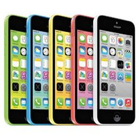 Wholesale Wholesale 8g Iphone - Refurbished Original Apple iPhone 5C IMEI Unlocked 8G 16GB 32GB IOS8 4.0 inch Dual Core A6 CPU 8.0MP 4G LTE Smart Phone Free DHL 5pcs