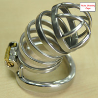 Wholesale Bdsm Chasity - Newest Arrival Male chastity device cock lock chasity cages new lock design chastity devices for men BDSM