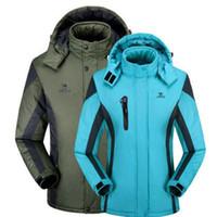 Wholesale Women S Coat Thermal - Wholesale- Winter men women jacket thermal coat for men Velvet Windbreaker male Down Parkas jackets Chaqueta Waterproof Windproof