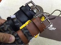 Wholesale belt woman h - 2018 designer H belts men high quality luxury leather g buckle men women hot Buckle ceinture homme mens belts luxury whit box