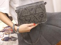 Wholesale Triangle Cell Phone - New women triangle stitching single shoulder messenger hand bag lady tide fashion evening clutch bag no15