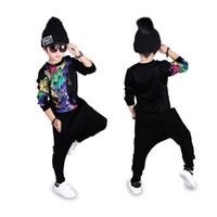 Wholesale Korean Zebra Suit - 2017 Spring Autumn Baby Kids boy korean children clothing Sets long sleeve sport suits jogging tracksuit boys sweatshirt T-shirt+Pants