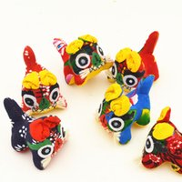 Wholesale Tiger Fabric Wholesale - The Old Coarse Cloth Cloth tiger Decoration Home Decoration Tourism Handcrafts Chinese style gift Folk Arts and Crafts