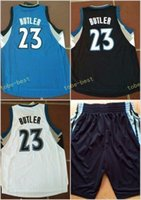 Wholesale Blue Jimmies - 2017 Cheap 23 Jimmy Butler 32 Karl-Anthony Towns Basketball Jerseys Karl Anthony 22 Andrew Wiggins Black Blue White Stitched Free Shipping