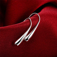 Wholesale 925 Silver Fish Hook Earring Dangle Ear Cuff for Women Fashion Jewelry Gift high quality
