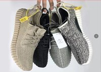 Wholesale New Shoes Pu Sole - Kanye 2017 New 350 boost Send PU+RB Sole Best Quality Shoes Pirate Black Suede 350 Sneakers Oxford Tan snakers with bag socks. size US13