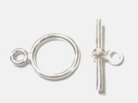 крючки для застежек оптовых-10 шт. / лот 925 стерлингового серебра Застежка крюк для DIY ремесло ювелирные изделия подарок бесплатная доставка W45